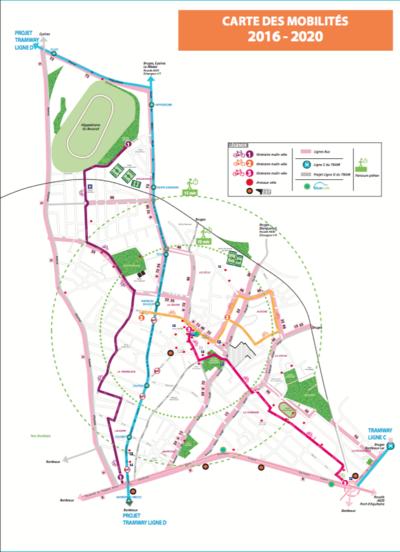 Travaux de voirie tramway ligne d mairie du bouscat for Piscine du bouscat