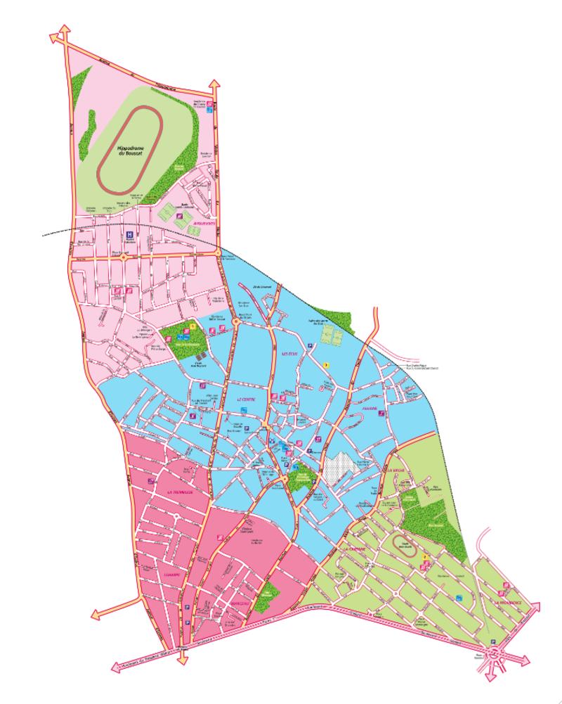 Plan des quartiers mairie du bouscat for Piscine du bouscat